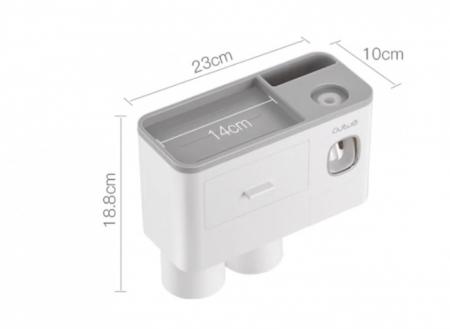 Suport pentru 4 periute de dinti cu 2 pahare magnetice si dispenser pasta de dinti [3]