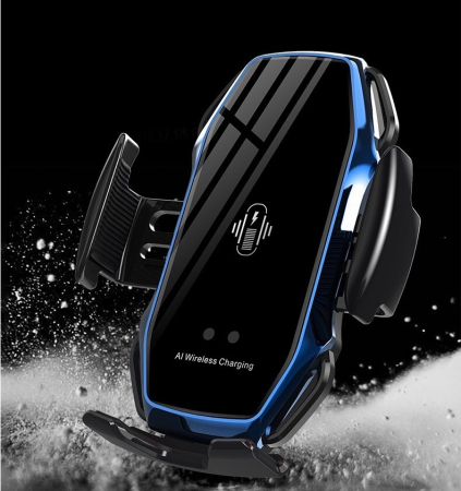 Suport pentru telefon auto A5, cu incarcare wireless si fixare cu senzor, 10W [1]