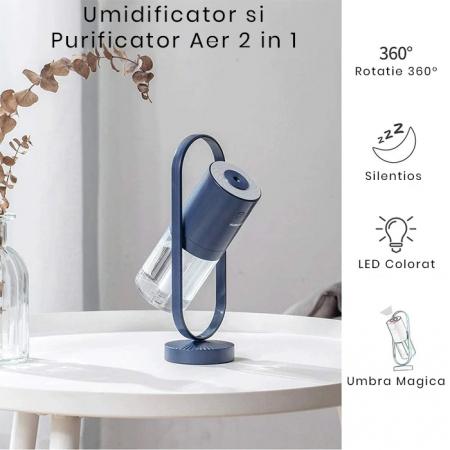 Umidificator portabil, Magic Shadow, 200ml, cu Led [4]
