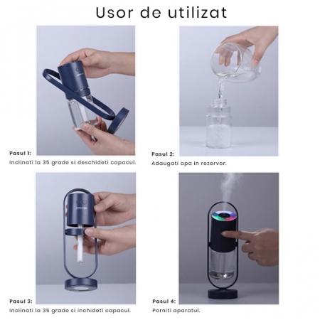 Umidificator portabil, Magic Shadow, 200ml, cu Led [6]