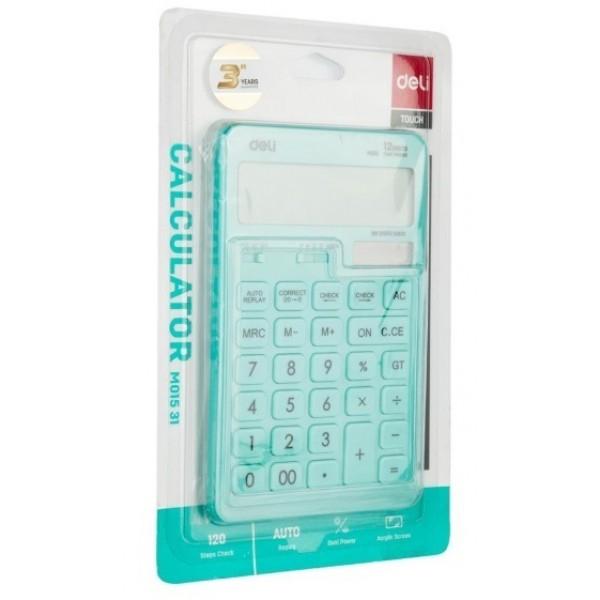 Calculator Birou 12 Digits Bleu Pastel Deli [1]