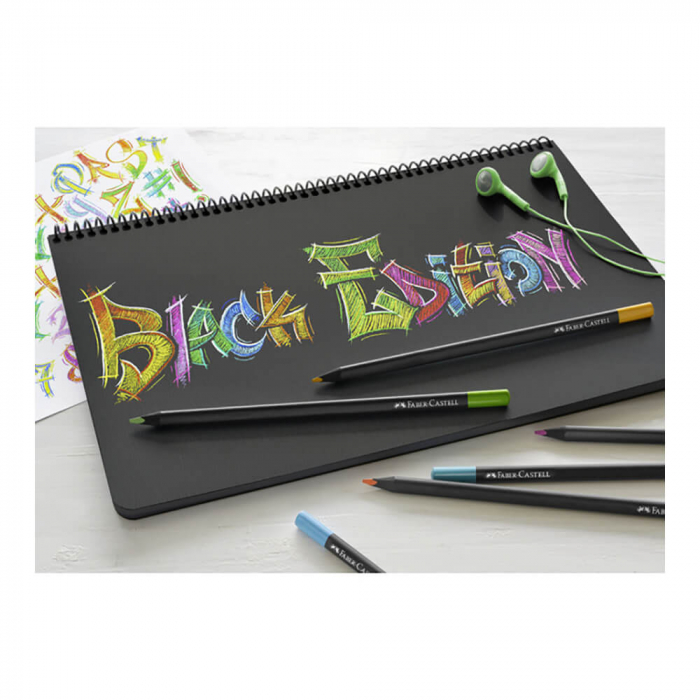 Creioane Colorate 12 Culori Black edition Faber Castell [1]