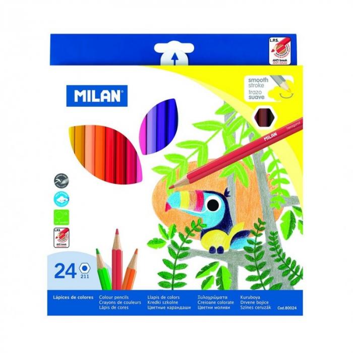 Creioane Colorate 24 Culori Milan [0]
