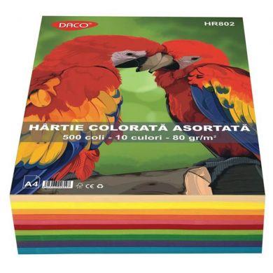 Hârtie Colorată  80gr A4 500 coli / 10 culori Daco [0]