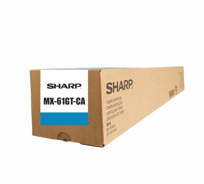 Sharp MX-61GT-CA,  Cartuș Original Toner Cyan [0]