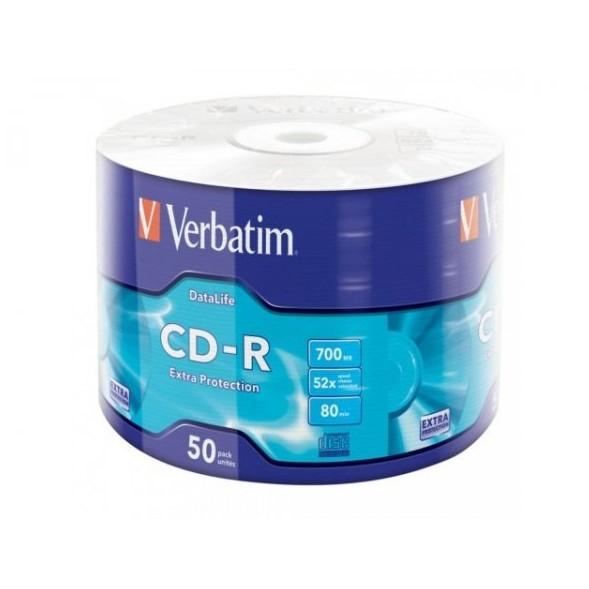 CD-R Verbatim, 700MB, 52X, Set 50 buc. [0]