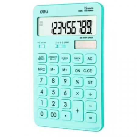 Calculator Birou 12 Digits Bleu Pastel Deli [0]