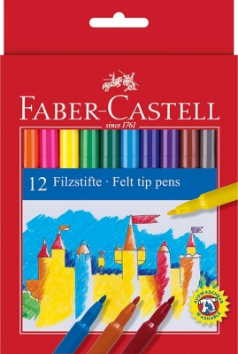 Carioci 12 Culori Faber-Castell [0]