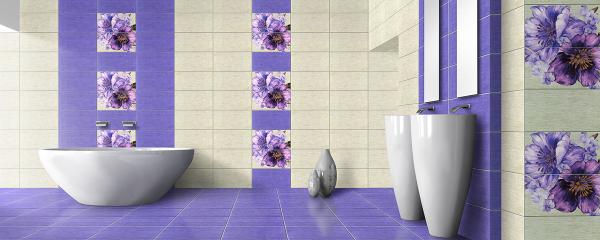 Faianta Decor Motive Tex, violet, 50 x 25 cm [1]