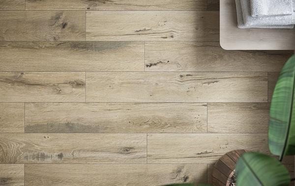 Gresie Northwood, bej, rectificata,19.8 x 119.8 cm 1
