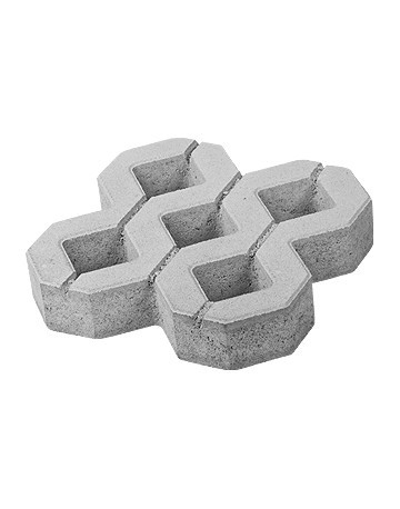 Pavaj Grila 1, gri-ciment, 40 x 40 cm, grosime 8 cm [0]