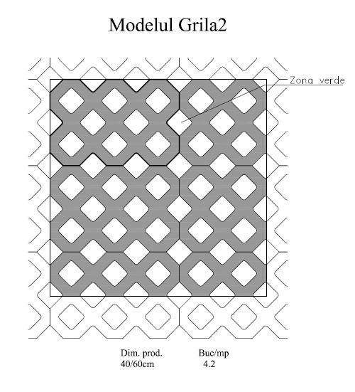 Pavaj Grila 2, gri-ciment, 40 x 60 cm, grosime 8 cm [3]