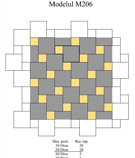 Pavaj Pavaj Patrat P4, alb-crem, 40 x 40 cm, grosime 6 cm, alb-crem, 40 x 40 cm, grosime 6 cm 3