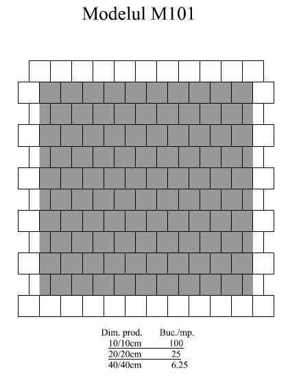 Pavaj Pavaj Patrat P4, alb-crem, 40 x 40 cm, grosime 6 cm, alb-crem, 40 x 40 cm, grosime 6 cm [1]