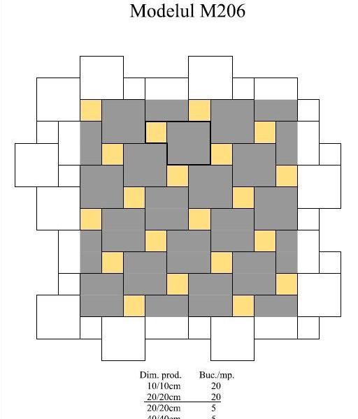 Pavaj Pavaj Patrat P4, alb-crem, 40 x 40 cm, grosime 6 cm, alb-crem, 40 x 40 cm, grosime 6 cm 4