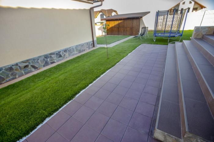 Pavaj Pavaj Patrat P4, gri-ciment, 40 x 40 cm, grosime 6 cm, gri-ciment, 40 x 40 cm, grosime 6 cm [3]