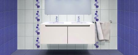 Faianta decor Dovima, violet ,40.2 x 25.2 cm [1]