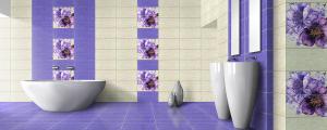 Faianta Motive Tex, violet, 50 x 25 cm,1