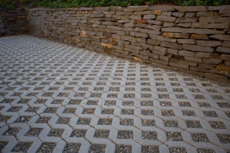 Pavaj Grila 1, gri-ciment, 40 x 40 cm, grosime 8 cm [3]