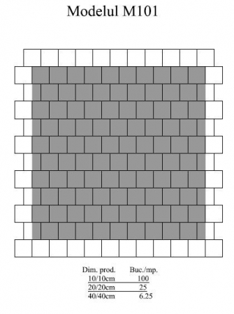 Pavaj Pavaj Patrat P4, alb-crem, 40 x 40 cm, grosime 6 cm, alb-crem, 40 x 40 cm, grosime 6 cm1