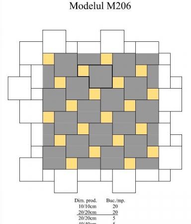 Pavaj Pavaj Patrat P4, rosu, 40 x 40 cm, grosime 6 cm, rosu, 40 x 40 cm, grosime 6 cm [4]