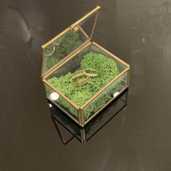Cutie verighete Small Golden Glass [0]