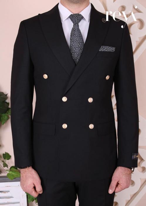Costum elegant negru Marco - Copie [0]