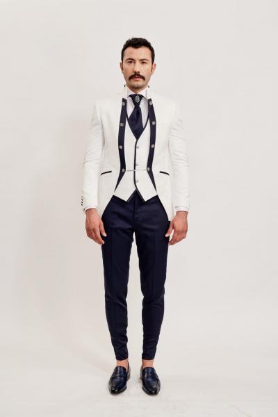Costum barbati White Groom [2]