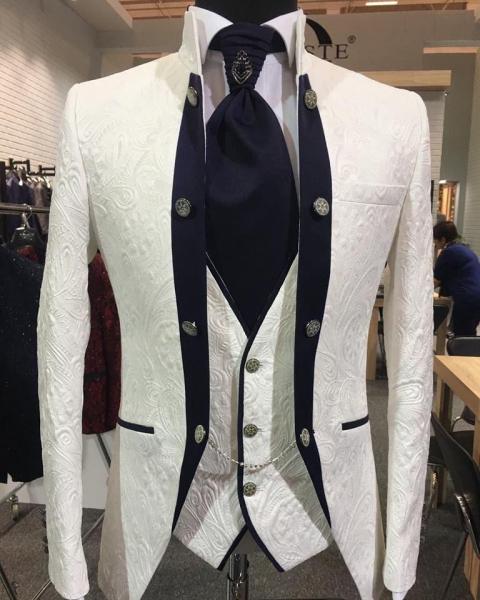 Costum barbati White Groom [1]