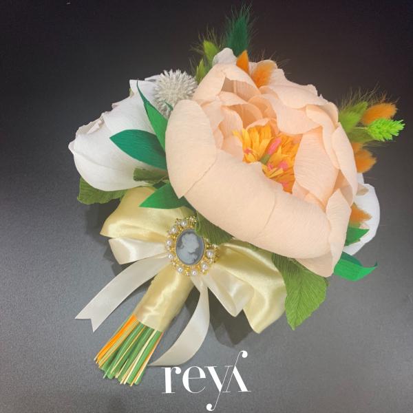 Buchet cu flori uscate si din hartie [0]