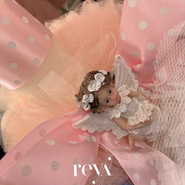Lumanare botez Pink Angel [1]