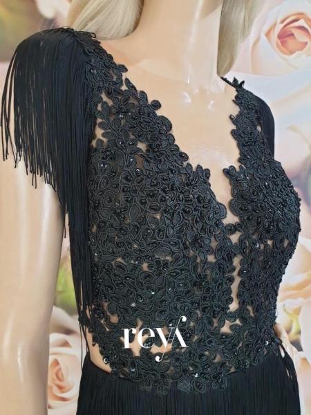 Rochie de seara Black Fringe [1]