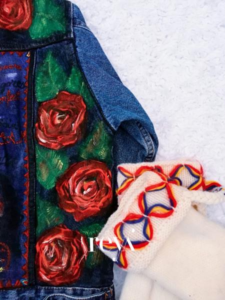 Jacheta de blugi Poppies [1]