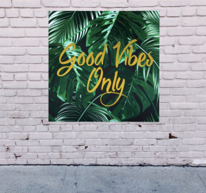 Tablou canvas Good Vibes Only [1]
