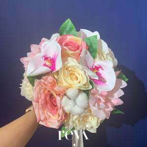 Buchet cu flori artificiale si din bumbac [0]