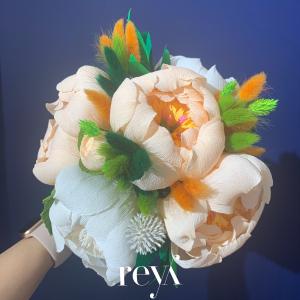 Buchet cu flori uscate si din hartie [1]