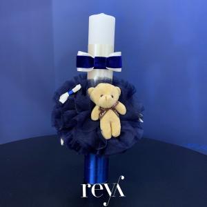 Lumanare botez Blue Velvet Bear [0]