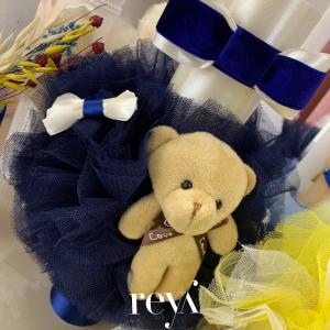 Lumanare botez Blue Velvet Bear [1]