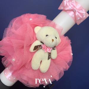 Lumanare botez Rose Bear [1]