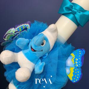 Lumanare botez Blue Smurf [1]