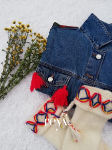 Jacheta de blugi Poppies [3]