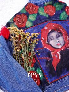 Jacheta de blugi Poppies [4]