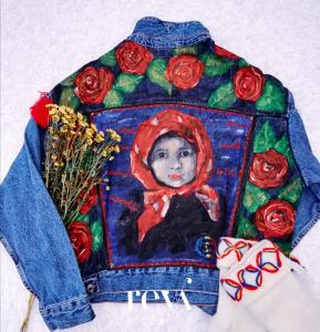 Jacheta de blugi Poppies [0]