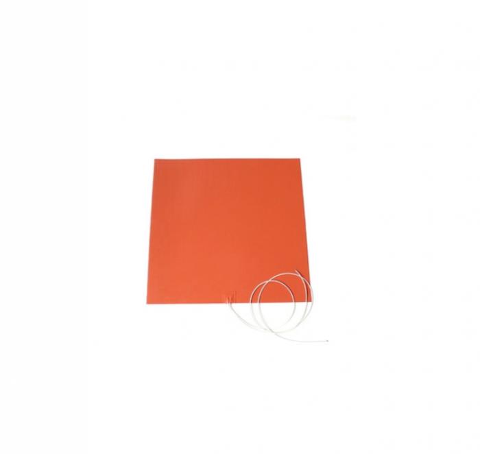 Rezistenta siliconica electrica de incalzire plata 250x250mm 220V 300W 180°C 0