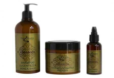 Tratament cu ulei de Argan, Sampon, Masca si Ulei satinat - Tratamentul părului deteriorat0