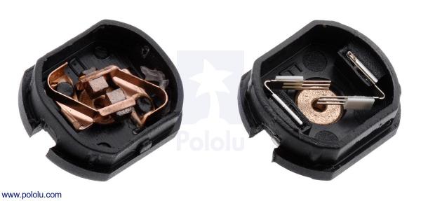 Motor electric micro metal 10:1 HPCB cu ax pentru encoder (Perii De Carbon) [2]