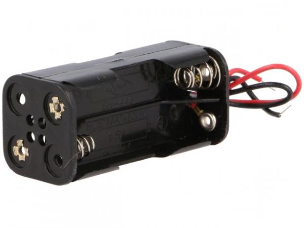 Suport 4 baterii AAA cu cablu de conectare 0