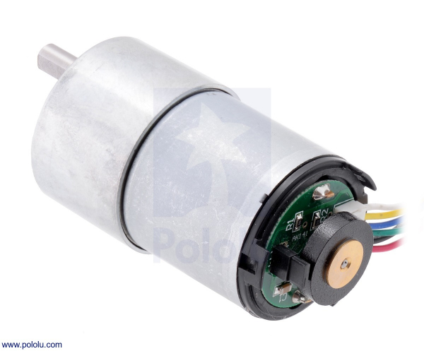 Motor 500 RPM 19:1 cu encoder Pololu 4