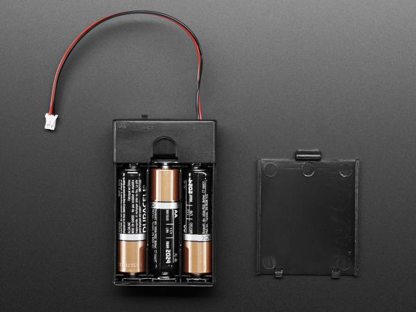 Suport pentru baterii 3xAA cu switch si clema curea [2]