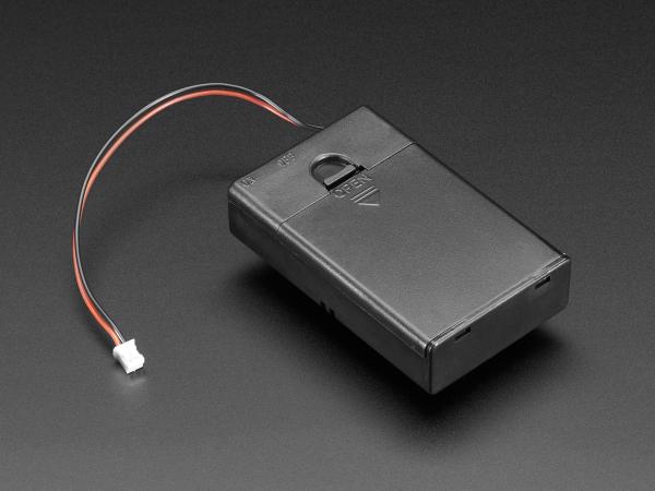 Suport pentru baterii 3xAA cu switch si clema curea [1]